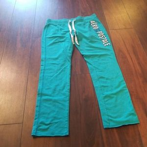 Teal aeropostale sweatpants
